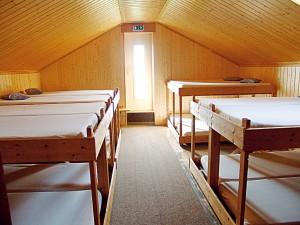 Eines der Bettenlager auf der Enzianhütte